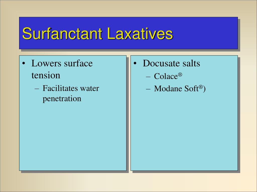 Lowers surface tension