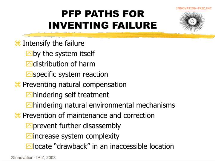 PFP PATHS FOR