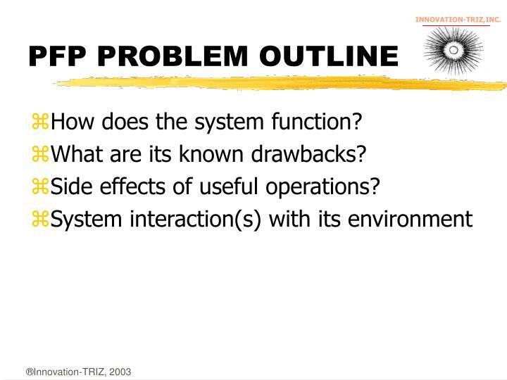PFP PROBLEM OUTLINE