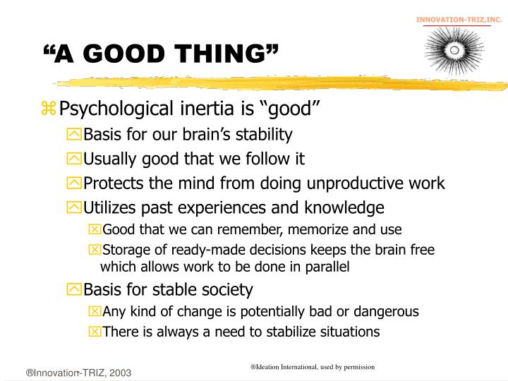 """""""A GOOD THING"""""""