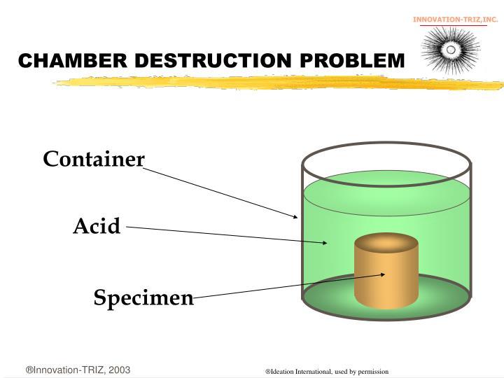 CHAMBER DESTRUCTION PROBLEM