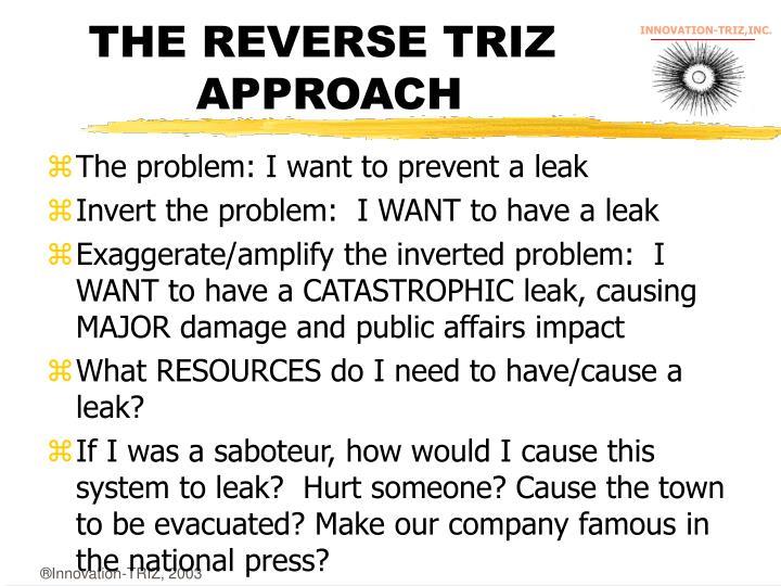 THE REVERSE TRIZ