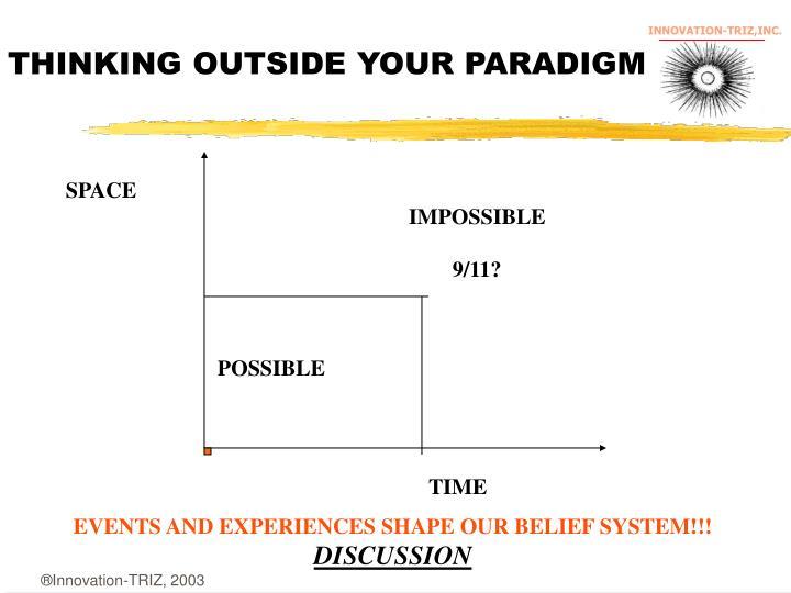 THINKING OUTSIDE YOUR PARADIGM