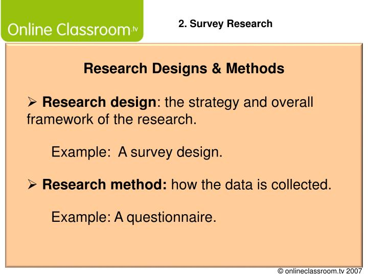 PPT - Research Designs & Methods PowerPoint Presentation ...