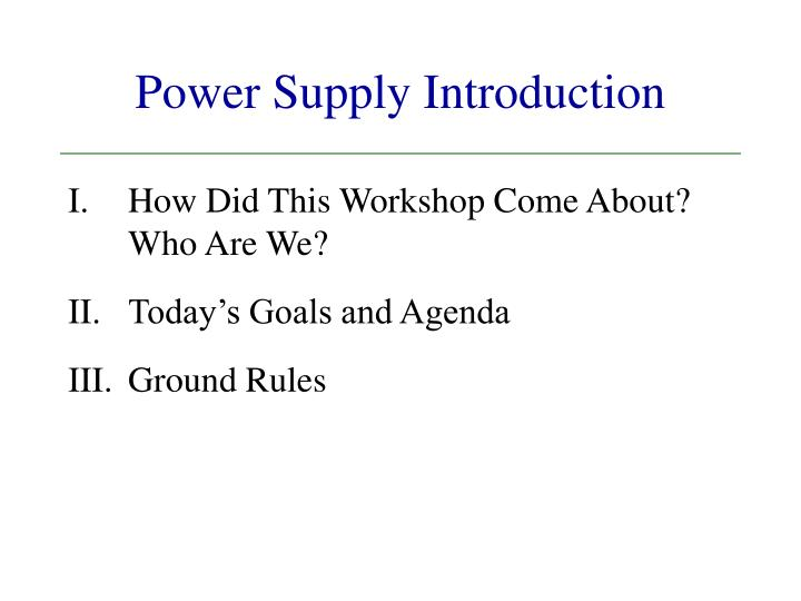 power supply introduction n.