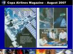 copa airlines magazine august 2007