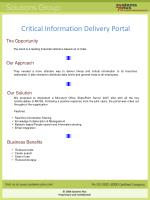 critical information delivery portal