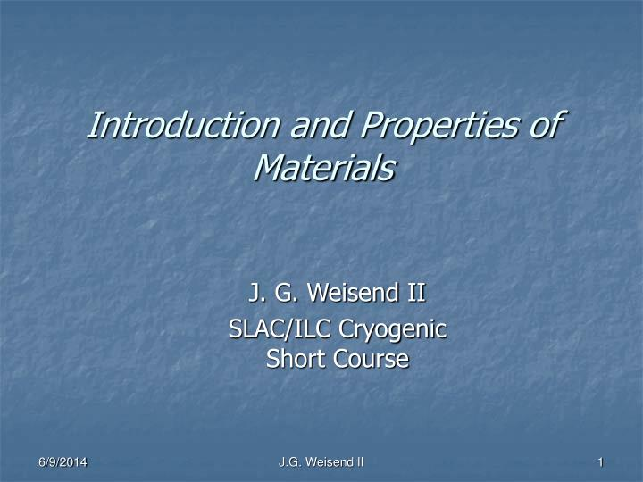 introduction and properties of materials n.