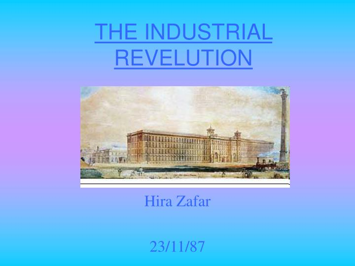 the industrial revelution n.