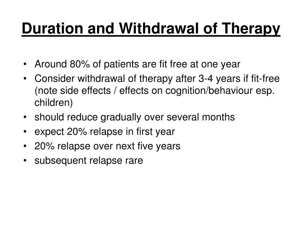Duration and Withdrawal of Therapy
