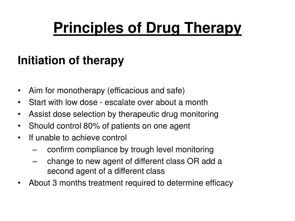 Principles of Drug Therapy