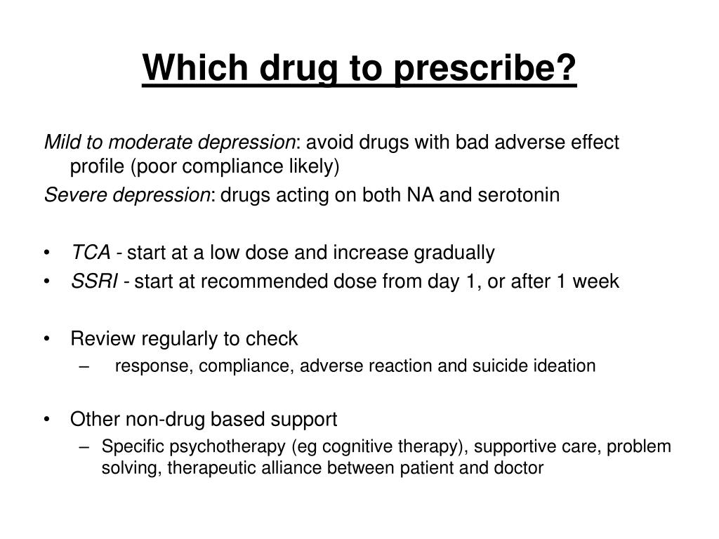 Which drug to prescribe?