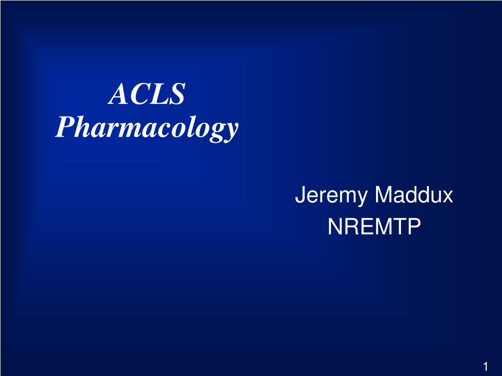 acls pharmacology l.