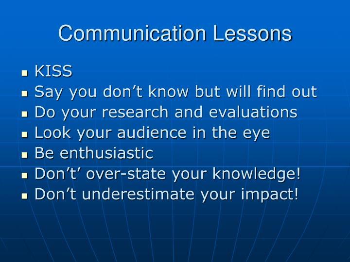 Communication Lessons