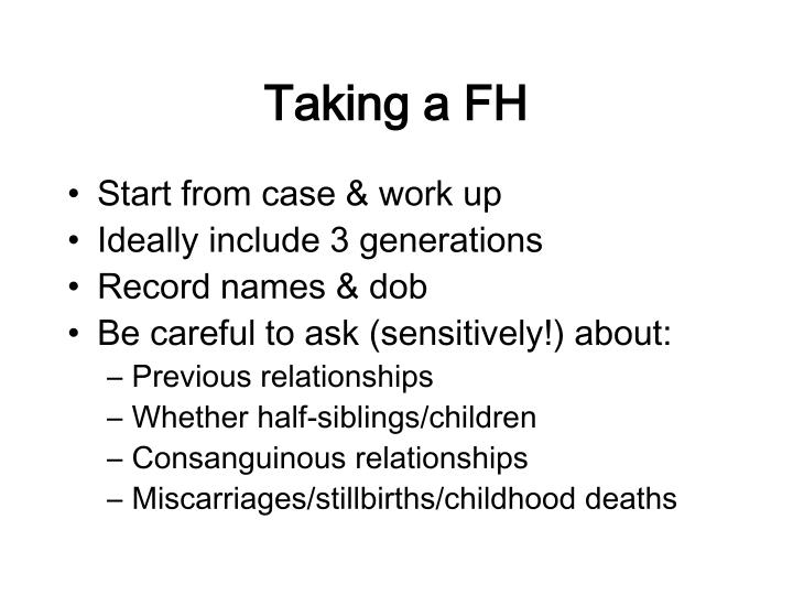 Taking a FH