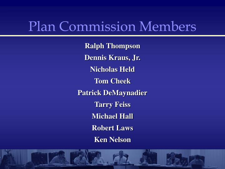 Plan Commission Members