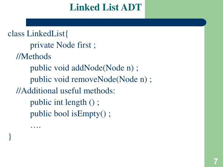 Linked List ADT