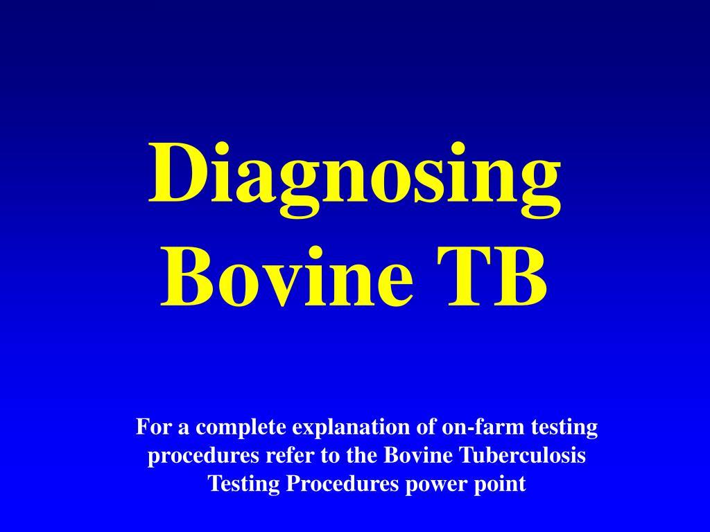 Diagnosing Bovine TB