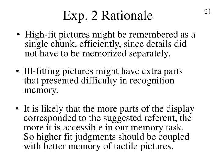 Exp. 2 Rationale