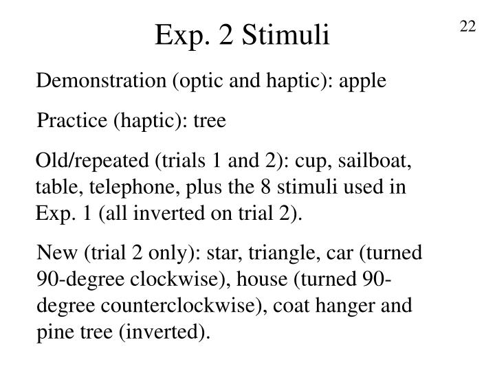 Exp. 2 Stimuli