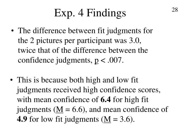 Exp. 4 Findings