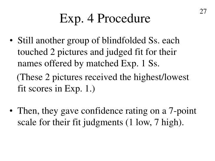 Exp. 4 Procedure