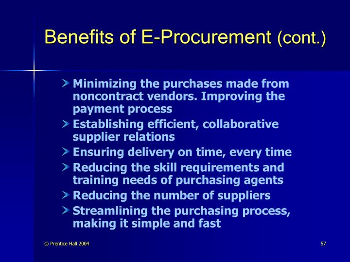 Benefits of E-Procurement