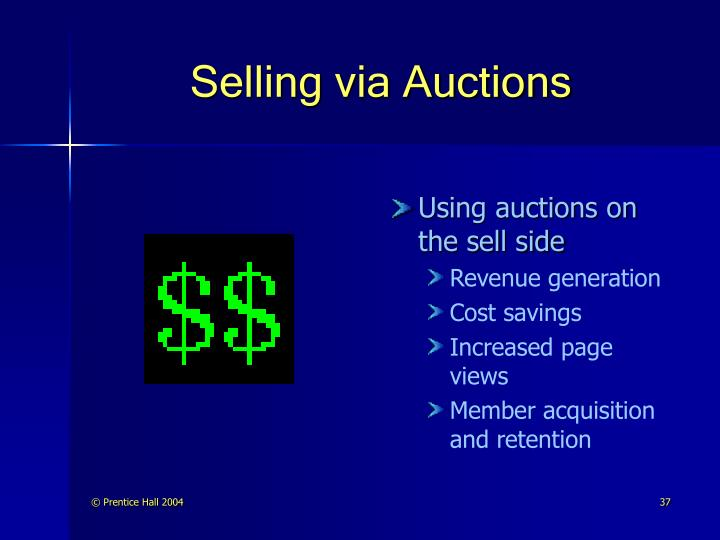 Selling via Auctions