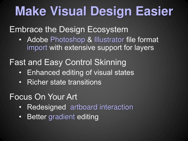 Make Visual Design Easier