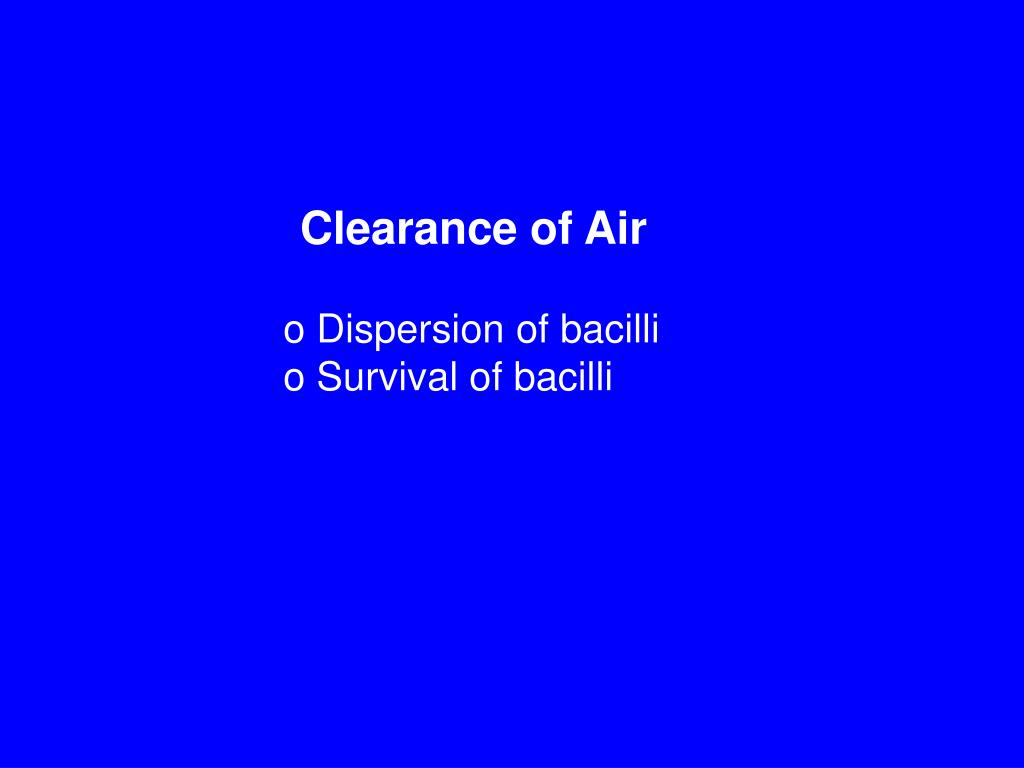 Clearance of Air