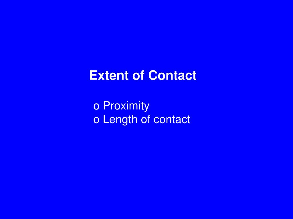 Extent of Contact