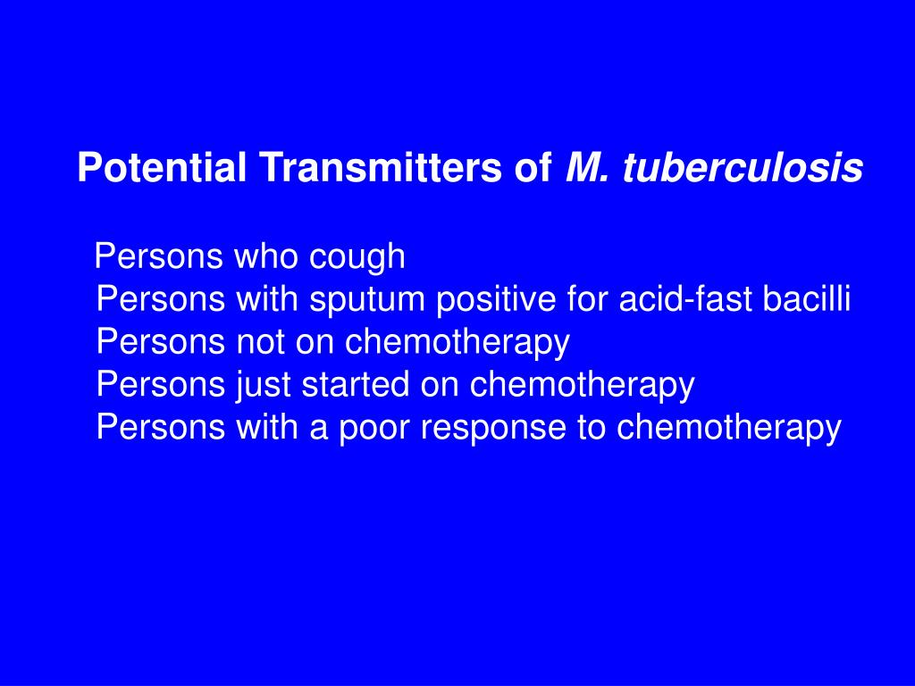 Potential Transmitters of