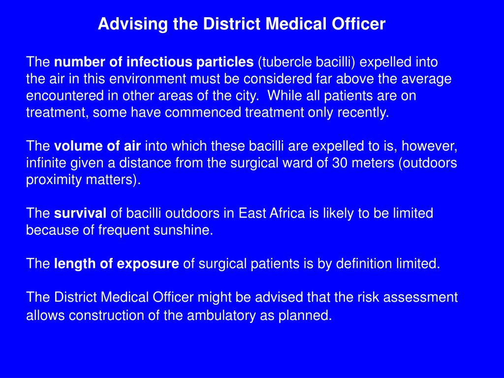 Advising the District Medical Officer