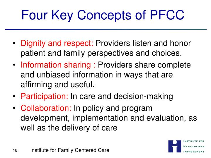 Four Key Concepts of PFCC