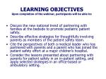 learning objectives upon completion of the webinar participants will be able to