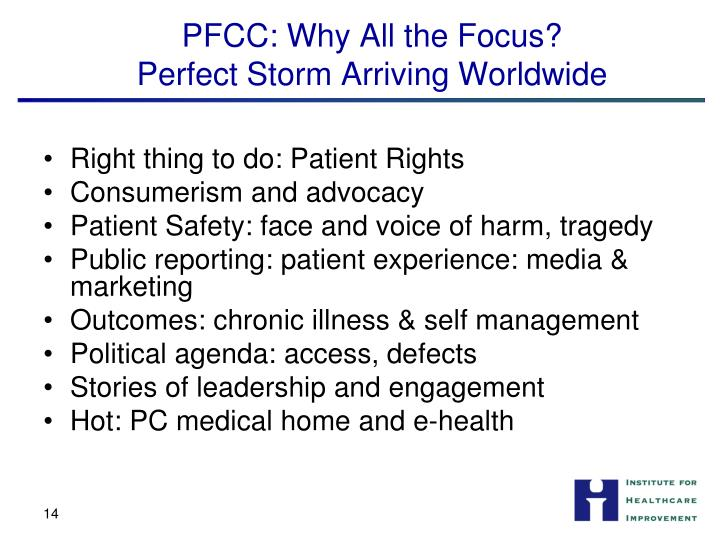 PFCC: Why All the Focus?