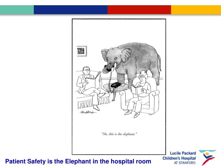 Patient Safety is the Elephant in the hospital room