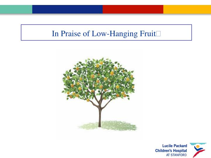 In Praise of Low-Hanging Fruit
