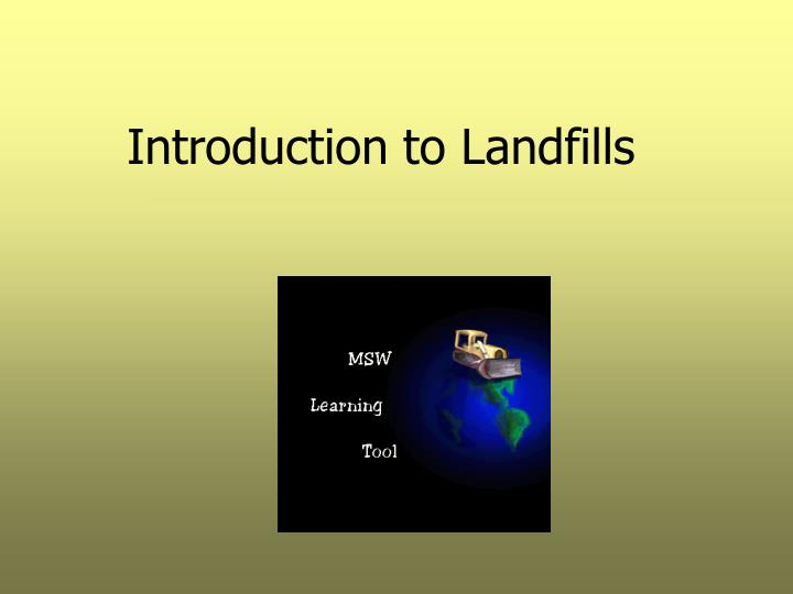 introduction to landfills n.