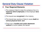 general duty clause violation