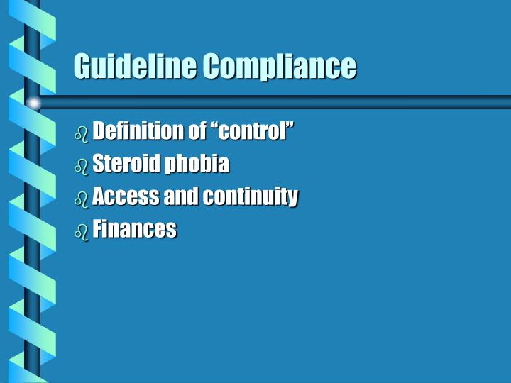 Guideline compliance