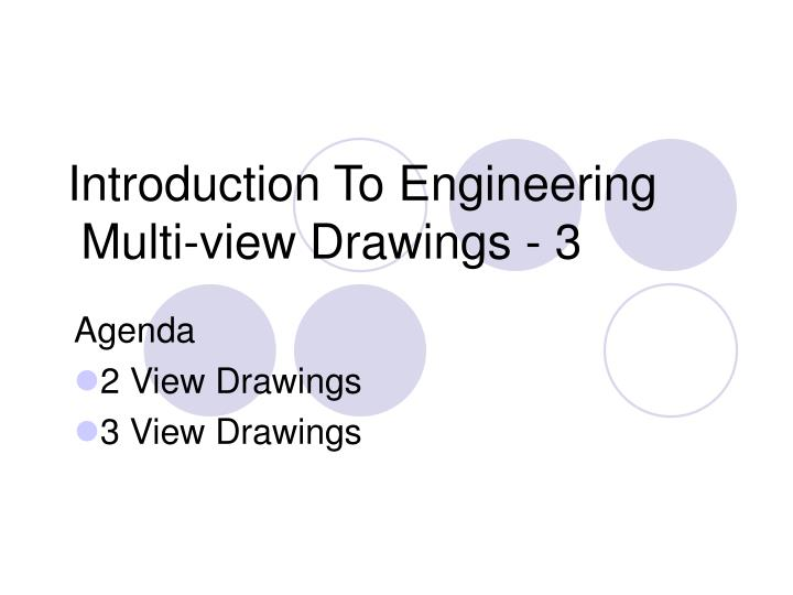 introduction to engineering multi view drawings 3 n.