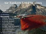air tankers used in 2003