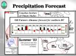 precipitation forecast