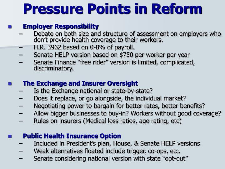 Pressure Points in Reform