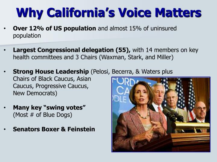 Why California's Voice Matters