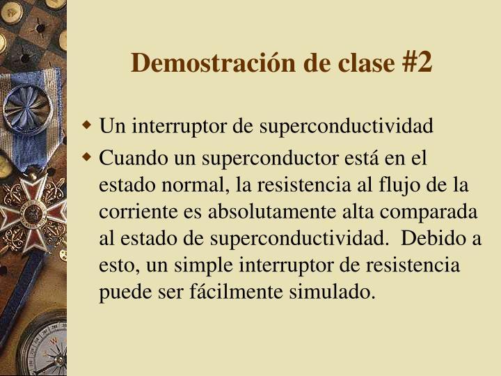 Demostración de clase