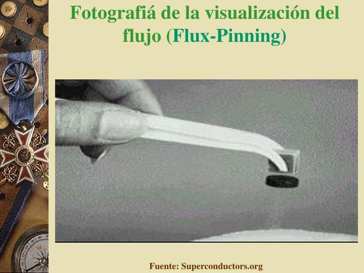 Fotografiá de la visualización del flujo (