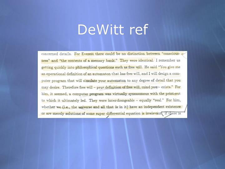 DeWitt ref
