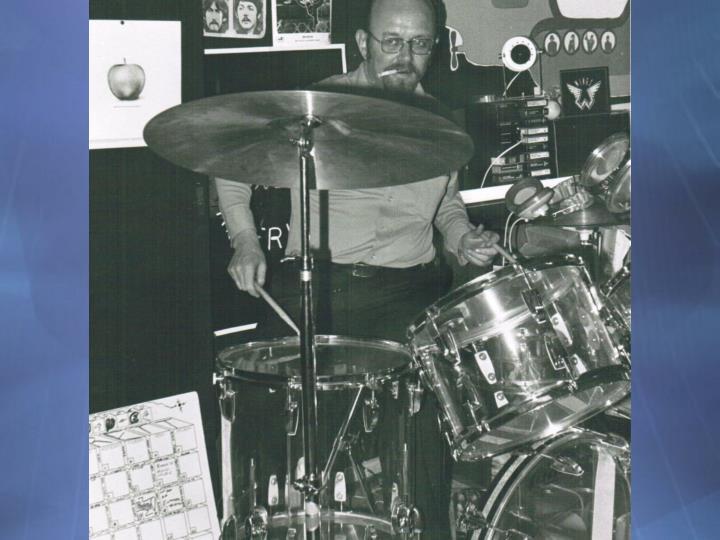 Hugh on drums